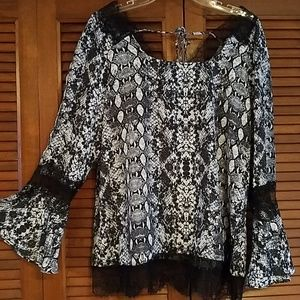 Beautiful lace trim blouse